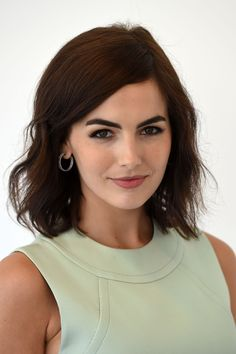 I love her hair...Camilla Belle makes her thick shape even more prominent by filling them in for a nearly-matte look.   - MarieClaire.com