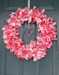 Fabric Valentine's Day Wreath