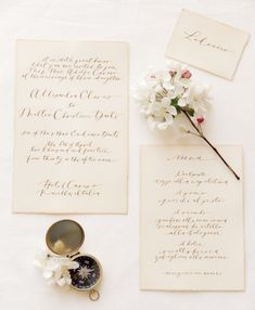 Tea stained cotton paper with calligraphy Claire Graham Photography | see more on: http://burnettsboards.com/2014/09/elegant-amalfi-coast-wedding-inspiration/