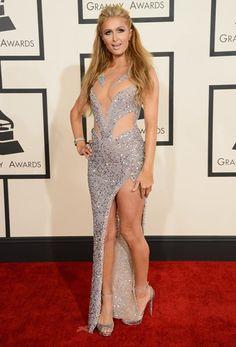 <P>Paris Hilton bleef trouw aan haar bimbostijl. Past meer op een strandfeestje dan op de rode loper in Los Angeles, lijkt ons. </P>