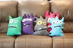 Monster birthday party ideas - monster pillows as party favors, how adorable?!
