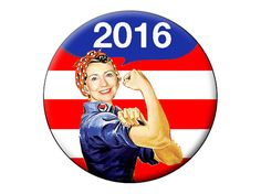 Hillary Clinton 2016 Pin Back Button  Hillary by psychedelictara, $2.99