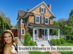 Brooke Shields $4.3 million house in Hamptons #celebrityhomes #brookeshields