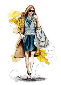 Short skirt and a long jacket