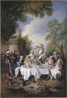 Nicolas LANCRET - Déjeuner de jambon - 1735 - Condé, Chantilly