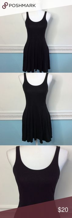 "H&M Black Dress In good condition. Small rip on the back, bottom of Dress as shown in picture. Length from under arm is 23"". Size 6 H&M Dresses Mini"