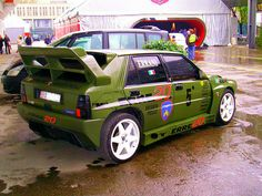 this is the lancia delta rs fourta model which hold a big from the stratos. well how do people think of this but not saying the word ass. 3008 Peugeot, Peugeot 205, Vw Mk1, Lancia Delta, Unique Cars, Modified Cars, Rally Car, Sexy Cars, Courses