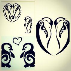 penguin tattoo idea. love this.