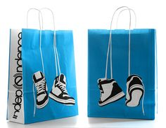 paper bag colour tennis shoes illusion hanging caring