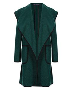 £69 Wool Blend Open Front Blanket Coat | M&S