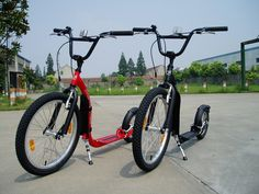 I would love to have a couple of kickbikes (mine will be red, of course!) to strap on my Vanagon.