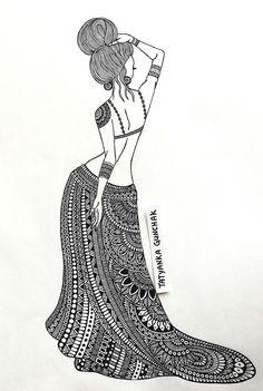 drawing by Tatyanka-Gunchak on DeviantArt Doodle Art Drawing, Dark Art Drawings, Zentangle Drawings, Mandala Drawing, Pencil Art Drawings, Art Drawings Sketches Simple, Ganesha Drawing, Mandala Art Lesson, Mandala Artwork