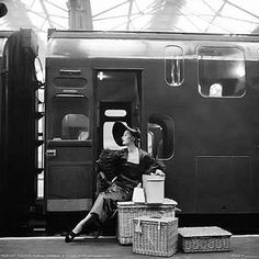 Milton Greene, England 1953 http://www.nomad-chic.com/luggage-guide-the-best-bags-for-travel.html
