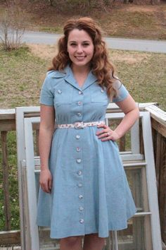 Sew for Victory–Simplicity 4036 Chambray Shirtwaist Dress - on my to do list!!