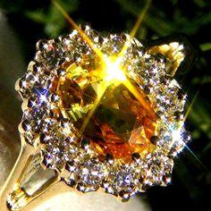 SAPPHIRE & DIAMOND CUSTOM RING CEYLON FINE IMPORTANT #Unbranded #Cocktail
