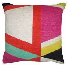 Yarn Dyed Geo Pillow - Threshold™