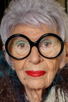 — iris apfel...my spirit animal. Live this woman!!