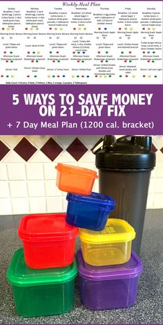 Here are my 5 no-fail ways to save money on 21-Day Fix. Plus, check out my simple and healthy weekly meal plan for the lowest calorie bracket (1200 calories)