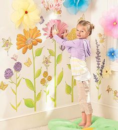 Assorted Fairy Garden Hand Drawn Decorative Wall Stickers, Set of 42 $39.98 taller than the kid helps her pretend she's a fairy