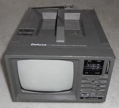 Deluxe Portable TV with radio remembers My Childhood Memories, Sweet Memories, Portable Tv, Good Old Times, 90s Nostalgia, Vintage Tv, Old Tv, My Memory, Old Things