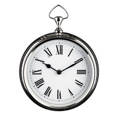 Wall Clock, Chrome Plated