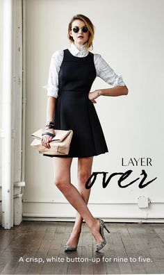 Dress that looks good over long sleeved shirts