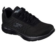 Go beyond your personal best in the SKECHERS Flex Appeal - Break Free shoe. Soft athletic mesh fabric and synthetic upper in a lace up athletic training and walking sneaker with stitching accents and Air Cooled Memory Foam insole. Free Training, Training Shoes, Athletic Training, One Piece D, Memory Foam, Sketchers Shoes Women, Baskets, Black Lace Up Shoes, Skechers Performance