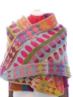 Cristabel Seyfarth, creates art knits. She was born and lives in Fanø, a Danish island in the North Sea.