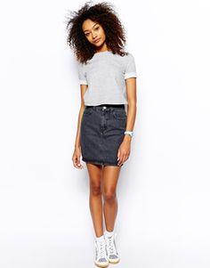 Image 1 - American Apparel - Jupe taille haute en jean