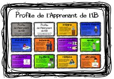 IB Learner Profile posters for older PYP students / MYP in French Ib Classroom, French Classroom, French Teaching Resources, Teaching French, Personal Project Ideas, Ib Learner Profile, British English, American English, International Baccalaureate