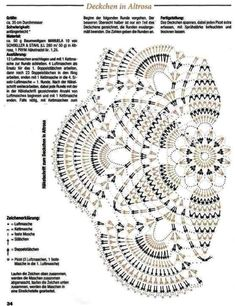 Kira scheme crochet: Scheme crochet no. Crochet Doily Diagram, Crochet Doily Patterns, Crochet Art, Crochet Home, Thread Crochet, Crochet Motif, Crochet Designs, Crochet Doilies, Crochet Stitches