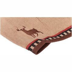 Deer Stripe Tip Towel. #Rustic #Deer #Moose #Camp #Cabin #Lodge #Cottage #LakeHouse #Bathroom Decor (Affiliate link)