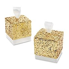 image of Kate Aspen® All That Glitters Favor Boxes in Gold (Set of 24)