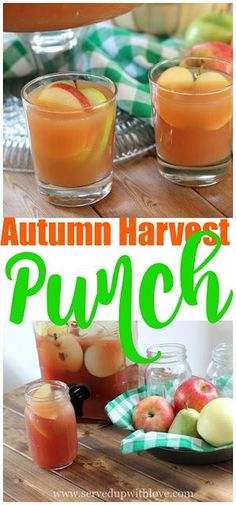 Autumn Harvest Punch recipe from Served Up With Love. Apple, pears, cranberries, oh my!! This is THE party punch for all those Fall parties!! www.servedupwithlove.com