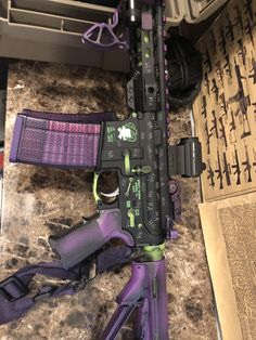 The latest batch of purple Lancer Mags look great in my Joker AR. Weapons Guns, Airsoft Guns, Guns And Ammo, Paintball, Tactical Pistol, Tactical Gear, Replica Guns, Big Girl Toys, Ar Build