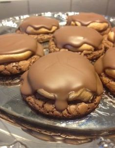 Snilleskök Raw Food Recipes, Baking Recipes, Cookie Recipes, Fun Desserts, Delicious Desserts, Dessert Recipes, Buckeye Brownie Cookies, American Cookie, Hot Cocoa Recipe