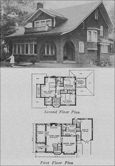 1923 Books of a Thousand Homes - 806 by Schieber; I've been looking for a floor plan like this for a while.