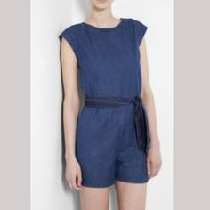 Rompers are a versatile outfit, great for a casual day look. This denim romper from french brand A.P.C  is also chic and stylish. Price: 230,10 €