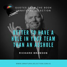Richard Branson : Hole in your team