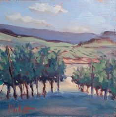 Heidi Malott Original Paintings: Vineyard Contemporary Art Impressionism Original O...