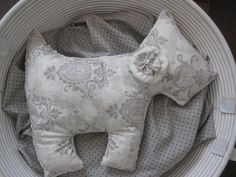 Minky pillow dog pillow cream minky fabric nursery by LyLyRosee, $20.00
