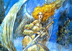 """""""Serra Angel"""" Original artwork by Rebecca Guay available at the R. Michelson Galleries or at rmichelson.com"""