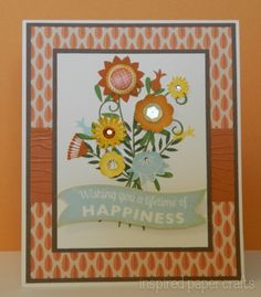 Wishing you Happiness! www.inspiredpapercrafts.com