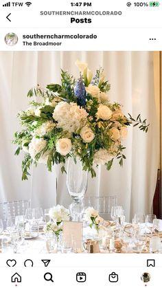 White Floral Centerpieces, Table Decorations, Home Decor, Decoration Home, Room Decor, Home Interior Design, Dinner Table Decorations, Home Decoration, White Flower Centerpieces
