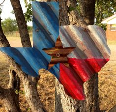Rustic tin texas decor by RustinRose on Etsy, $22.50
