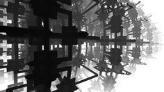 Fractal based prototyping for #MindMecca #monochrome #digitalart #indiedev