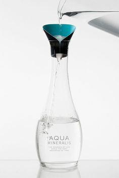 Aqua Mineralis: mineral water by Jenny Lundgren Water Packaging, Bottle Packaging, Agua Mineral, Mineral Water, Coach Purses Outlet, Cheap Coach Handbags, Water Bottle Design, Yanko Design, Glass Bottles