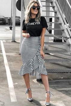 trendy: Meeräsche die Länge die Sommerwette ist OWN RG von Lu K Vi Indian Fashion Dresses, Modest Fashion, Fashion Outfits, Classy Outfits, Casual Outfits, Modest Wear, Mode Chic, Skirt Outfits, Everyday Outfits