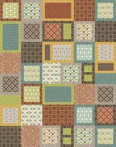 """Check out our FREE """"Modern Victoria"""" quilt pattern using the collection, """"Melbourne"""" by Andrea Komninos for Contempo. Designed by Janet Page Kessler. Finished size: 44"""" x 56""""."""