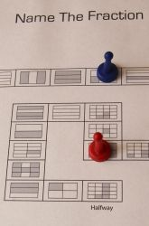 Even though I am not a math person this is a great idea for a review Activities: Fraction Board Game